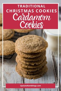 These rich spice cookies are traditional Scandinavian cookies. Crisp and tasty they are a delicious homemade cookie the entire family will love. Flavored with cinnamon and cardamom they make the entire house smell amazing! Excellent holiday cookies!