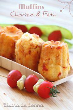 Muffins chorizo-fêta