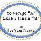 This product is a bilingual flashcard game. It has the same concept of I have A...who has B. The whole Spanish alphabet is included with photo...