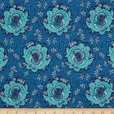 Amy Butler Violette Take Flight Marin from @fabricdotcom  Designed by Amy Butler for Westminster, this cotton print fabric is perfect for quilting, apparel and home decor accents. Colors include navy, blue and sky.