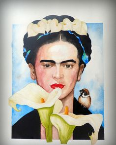 FRIDA CALA Diego ama a Frida Khalo  y pinta calas. Tú, lo calas?