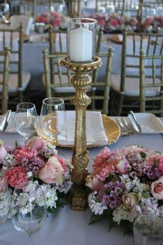 Decor It Events beautiful blush floral and gold candlesticks wedding design.  #decoritevents #events #melbourne #melbournewedding #weddingstyling #wedding #goldcandlesticks #centerpieces# #styling #weddingdecor #weddingdecorations #tabledecorations
