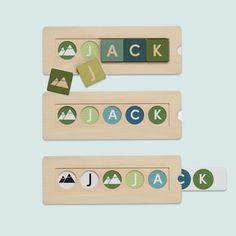 Tinyme Personalised Name Block Puzzle.