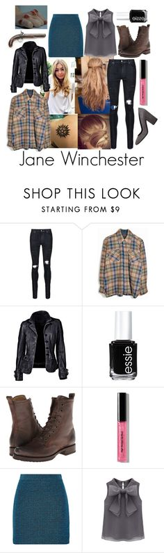 """s4e9 I Know What You Did Last Summer"" by abbitsachan ❤ liked on Polyvore featuring Ødd., AMIRI, Essie, Frye, Bobbi Brown Cosmetics, Proenza Schouler, Lerre and bathroom"