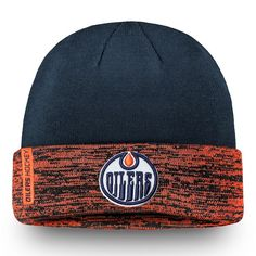 pretty nice 2babe 5f4dd Men s Edmonton Oilers Fanatics Branded Navy Orange Authentic Pro Rinkside - Cuffed  Knit Hat, Your Price   27.99 CAD
