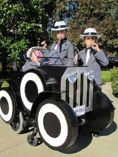 Roaring 20s gangsters and wheelchair vehicle