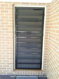 Black Mildura Steel Security Door With Privacy Mesh Melbourne