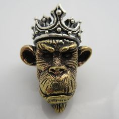 Ape King in Brass & .925 Sterling Silver by Lion ARMory