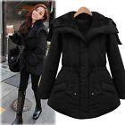 Women's Winter Jacket Hooded Fur Coat Female Cotton Warm Parka Black Plus Size