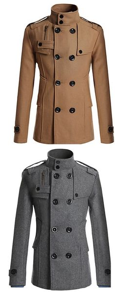 This winter stay warm and in style with this elegant winter coat for gentleman! Like it? Click for more details and enjoy Black Friday discount until today!