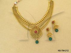 NS-794-212 || Ball Chain Delicate Antique Necklaces