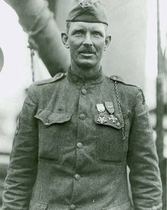 This is Sergeant Alvin C. York.Born in 1887, York was a Pacifist who became one of the most decorated American soldiers to fight in World War I.