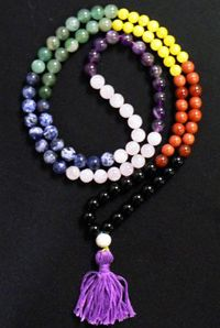Malas - 108 Prayer Beads - Chakra Mala -108 Prayer Beads Graduated Colors