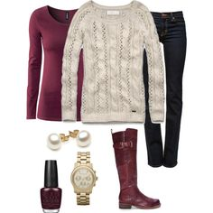 A fashion look from January 2013 featuring Abercrombie & Fitch sweaters, H&M tops and J Brand jeans. Browse and shop related looks.