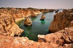 A cave grotto near Lagos on the Portuguese Algarve coast.