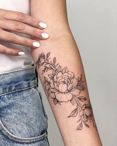 full sleeve tattoos with meaning Floral Arm Tattoo, Forearm Flower Tattoo, Inner Forearm Tattoo, Peony Flower Tattoos, Arm Tattoos For Women Forearm, Tattoos For Women Half Sleeve, Arm Tattoos For Women Upper, Flame Tattoos, Cute Tattoos