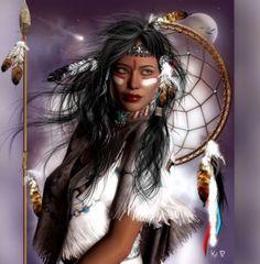 Beautiful Native American Girl.