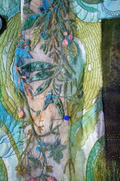 detail...machine stitching on organza using Aquabond