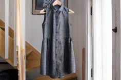 Grainline Alder Shirtdress - Middlegray