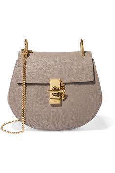 Shop for Drew Small Textured-leather Shoulder Bag - Light gray by Chloé at ShopStyle. Chloe Purses, Chloe Handbags, Saddle Handbags, Chloe Drew Bag, Sacs Design, Quilted Bag, Texture, Leather Shoulder Bag, Shoulder Bags