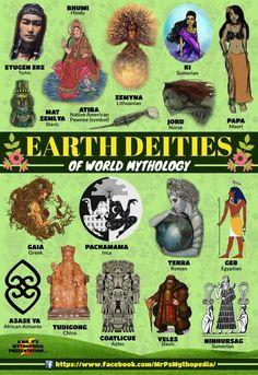 Earth Deities of World Mythology! World Mythology, Greek Mythology, Mythological Creatures, Mythical Creatures, Myths & Monsters, Legends And Myths, World Religions, Greek Gods, Gods And Goddesses