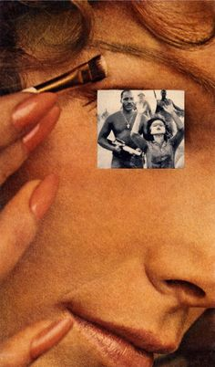 Makeup Hands Up, from House Beautiful: Bringing the War Home, Photomontage BOMB Magazine — Portfolio by Martha Rosler Collages, Collage Artists, Photomontage, Foto Blog, Feminist Art, Beautiful Homes, House Beautiful, Art Institute Of Chicago, Film Stills