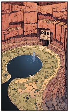 A Land called Tarot Moebius Art, 3d Art, Art Cg, Ligne Claire, Art Anime, Art Graphique, Environment Design, Fantasy Landscape, Fantasy World