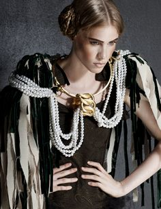 high fashion and pearls