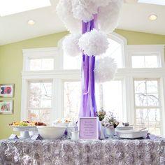 Purple Baby Shower Centerpieces | baby shower | Baby Lifestyles - Part 2