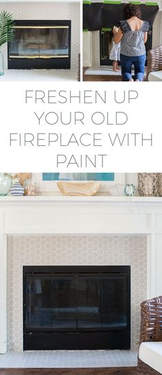 Using High Heat Paint to Update a Fireplace - Making Home Base