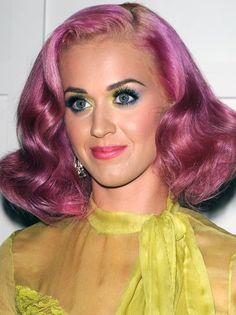 pink 1920s style hairdo!