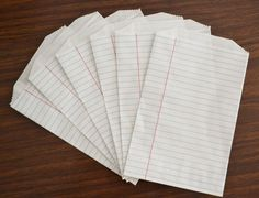 Notebook Paper Bags... CUTEEEE