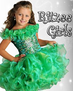 Girls Pageant Dress Ritzee Girls Style B634