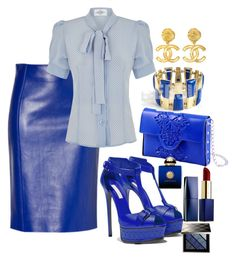 """Sexy blue"" Diva of Cake on Polyvore featuring MeDusa, Casadei, Chanel, Estée Lauder, AMOUAGE and Burberry"