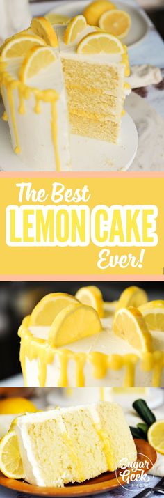 Lemon Cake That Is Light, Fluffy And Fully Of Natural Lemon Flavor!