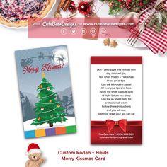 Custom Rodan + Fields Merry Kissmas Card (Business Card Size)