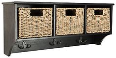Safavieh Damien 3 Drawer Storage Bench | Ashley Furniture HomeStore Hanging Racks, Wall Racks, Storage Shelves, Storage Baskets, Drawer Storage, Storage Compartments, Shelf, Sock Organization, Modern Kitchen Cabinets