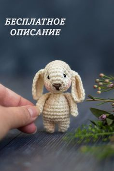 СХЕМА вязания мини зайчика амигуруми #схемыамигуруми #амигуруми #вязанаяигрушка #игрушкикрючком #вязаныйзаяц #заяцкрючком #amigurumipattern #crochetpattern #amigurumibunny #crochetbunny Amigurumi Doll Pattern, Luanna, Crochet Bunny, Crochet Patterns, Crochet Ideas, Free Pattern, Teddy Bear, Miniatures, Stitch