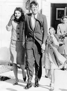 Jackie, John and Caroline Kennedy.