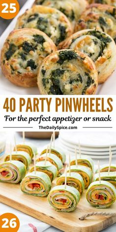Party pinwheels are some of the easiest and quickest appetizers and bite sized snacks you can whip up in a few minutes to feed a crowd. Quick Appetizers, Holiday Appetizers, Appetizer Recipes, Holiday Recipes, Party Appetizers, Bite Size Snacks, Pinwheel Recipes, Catering Food, Appetisers