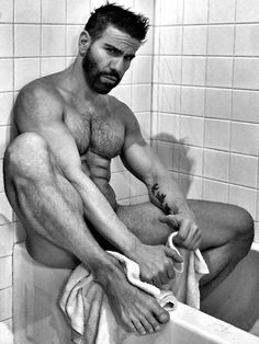 Here Baby... let me help you with that towel......