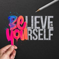 Believe in yourself! by us to get featured on the mu Logo Design Services, Custom Logo Design, Custom Logos, Graphic Design, Logo Type, Brush Lettering, Lettering Design, Logo Desing, Typography Inspiration