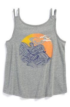 Girl's Roxy 'Sunset Wave' Double Strap Tank Top