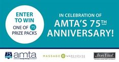 Enter to Win: One of 75 Prize Packs from AMTA Bon Vital and Massage Warehouse!