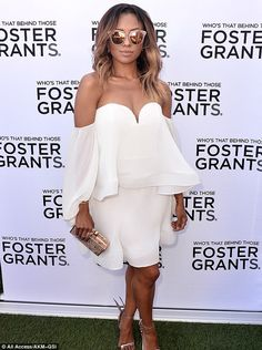 Kat Graham Glasses on: Kat sported sunglasses upon arriving at the event