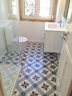 Décor Optique Mer_ Ceramic Tiles from Neocim Collection by KERION Ceramics Floor Patterns, Tile Patterns, Ceramic Floor Tiles, Tile Floor, Porcelain Tile, Entryway Flooring, Farmhouse Flooring, Home Renovation, Small Bathroom