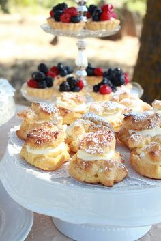 homemade creme puffs - brings back memories of being at Karen Zierke's home.  She always made the best creme puffs!!!!!