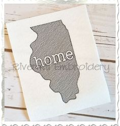$2.95Sketch Style Illinois Home Machine Embroidery Design