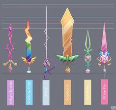 Mane Six Swords - Final by ChocoChaoFun on DeviantArt