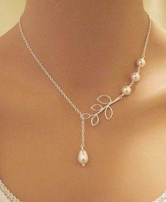 GRACE  Swarovski Pearls and Branch sterling by RedEnvelopeGifts, $25.00
